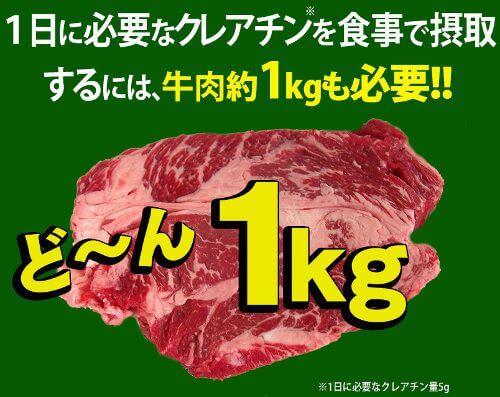 1キロの肉の図