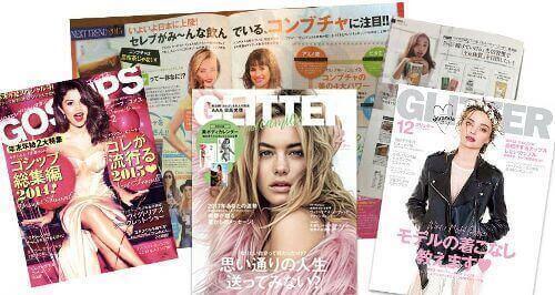 多くの雑誌に掲載されているコンブチャ
