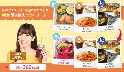 置き換え食事例画像