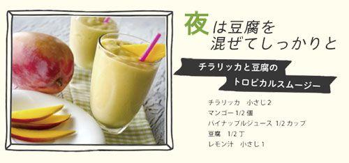 トロピカルスムージーのレシピ