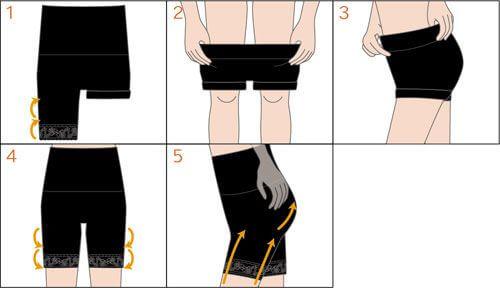 ガードルの履き方図解
