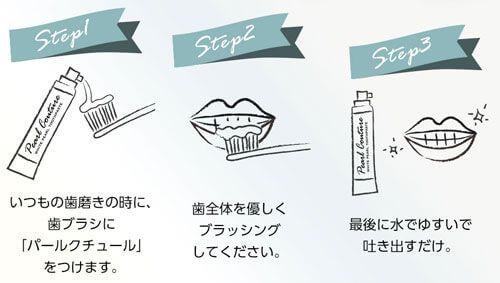 使い方3ステップのイラスト
