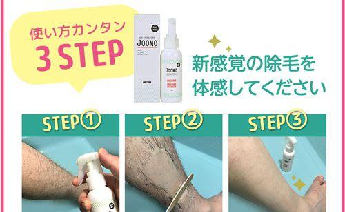 使い方の3ステップ手順の写真
