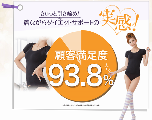 顧客満足度の円グラフ