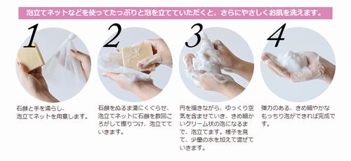石鹸の使い方説明