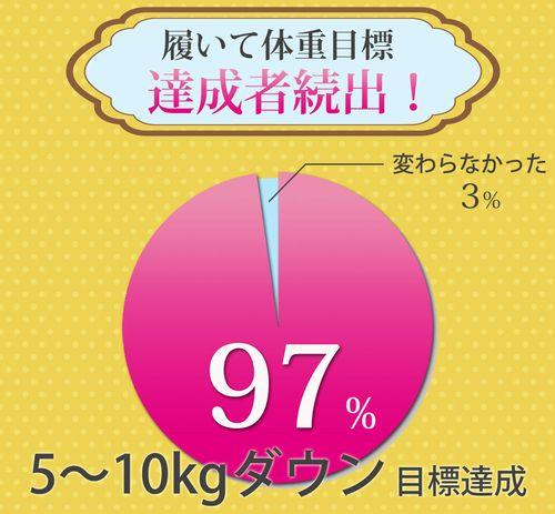 目標達成97%の円グラフ